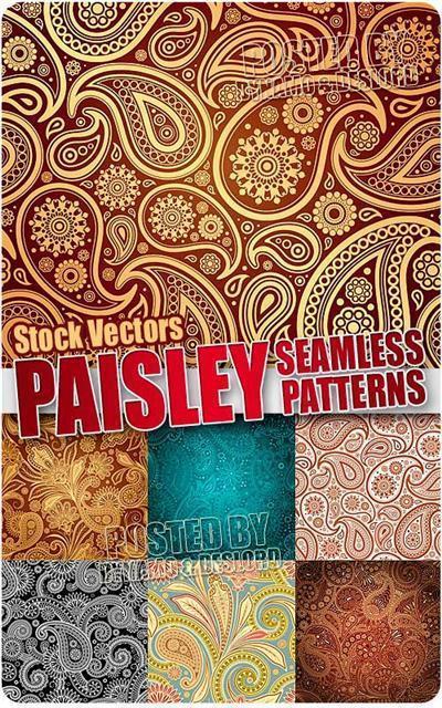 Paisley seamless patterns - Stock Vectors