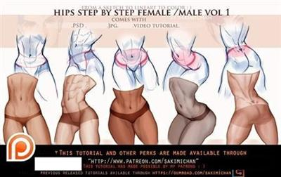 Hips Male Female Steps Tutorial Pack