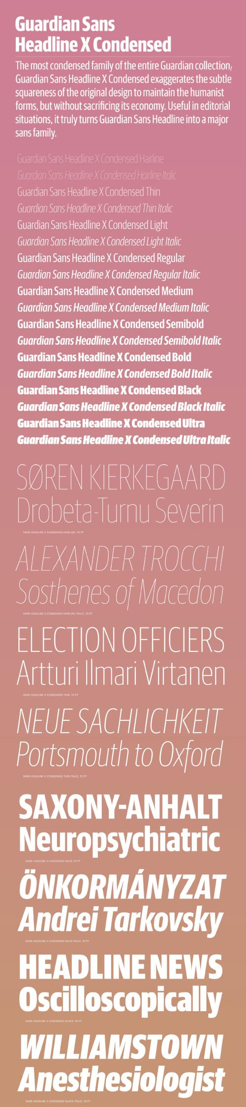 Guardian Sans Headline X Condensed Font Family