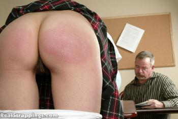 Spanking - Breaking Position Earns Brandi the Strap