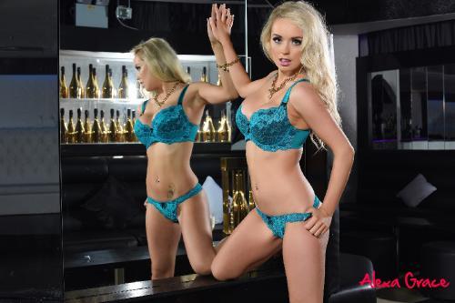 Alexa Grace Posing In The Mirror In Her Cute Lingerie