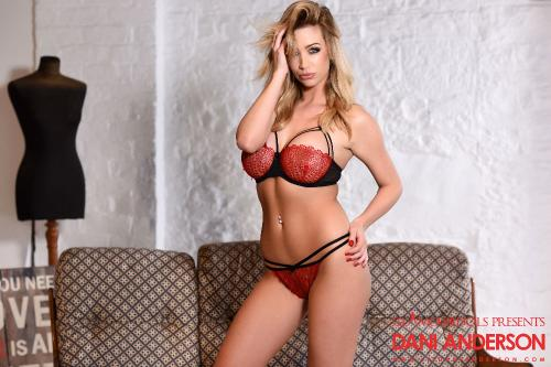 Dani Anderson In Her Hot Red Lingerie