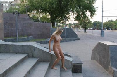 Awesome amateur girl flashing tits and pussy outdoor