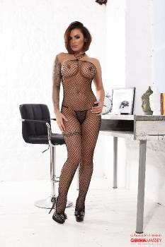 set027 Gemma Massey in her fishnet bodysuit 16.05.16