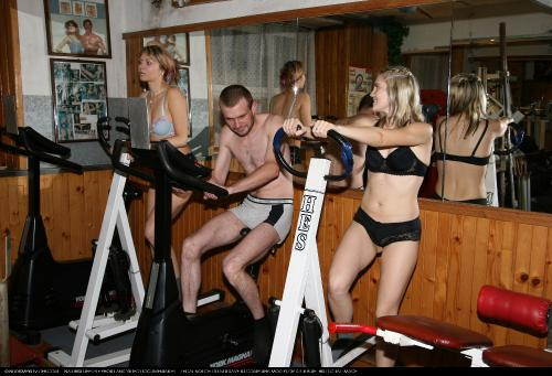 Nudist Gym Club Workout