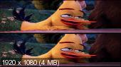 Angry Birds в кино 3D / Angry Birds 3D  Вертикальная анаморфная