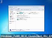 Windows 7 SP1 AIO 12in1 • QuickStart • 25.8.16 (x86) (2016) Rus/Eng