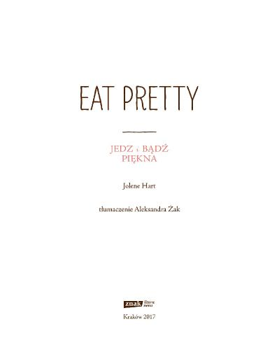 Eat Pretty  Jedz i badz piekna